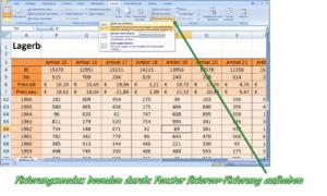 Excel Zeile fixieren - Teilen
